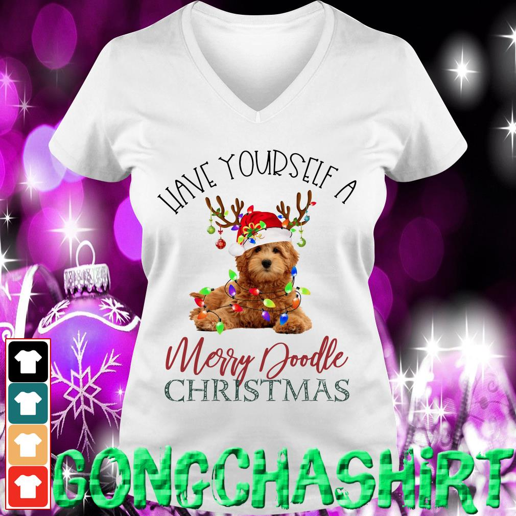 Have yourself a Merry Doodle Christmas v-neck t-shirt