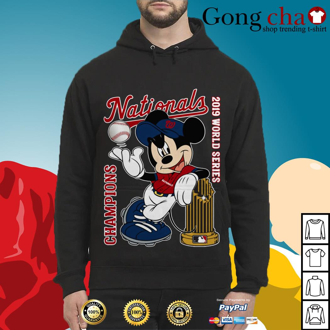 Mickey Mouse Washington Nationals 2019 World Series Champions Hoodie