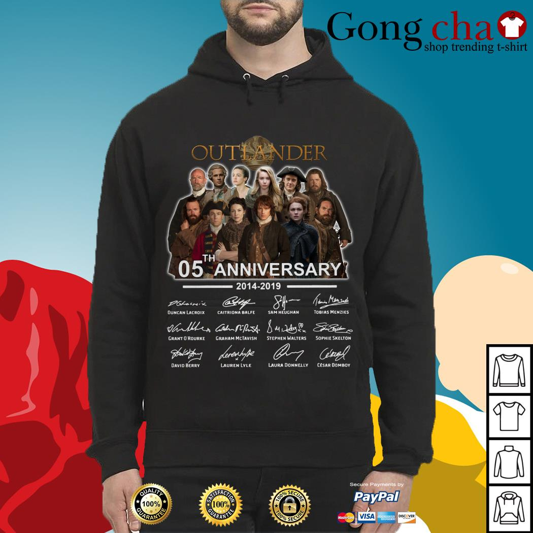 Outlander 05th anniversary 2014-2019 signatures Hoodie