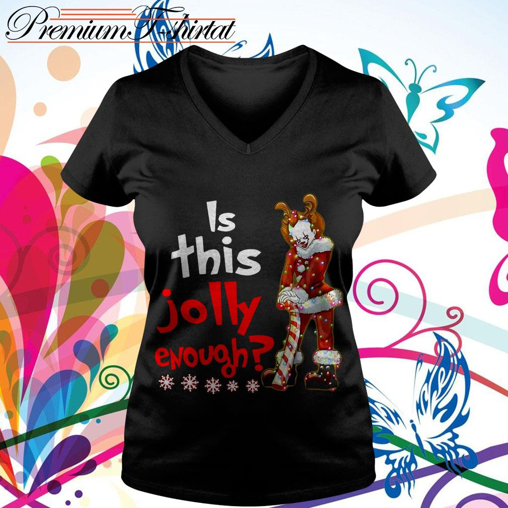 Pennywise is this jolly enough Christmas shirt and hoodie