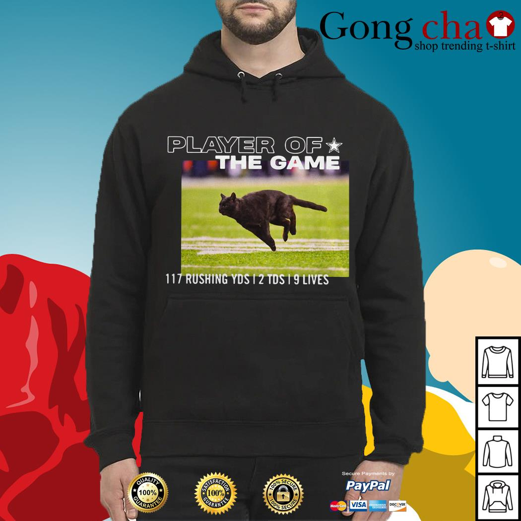 Player of the game 117 rushing YDS 2 TDS 9 Lives Hoodie