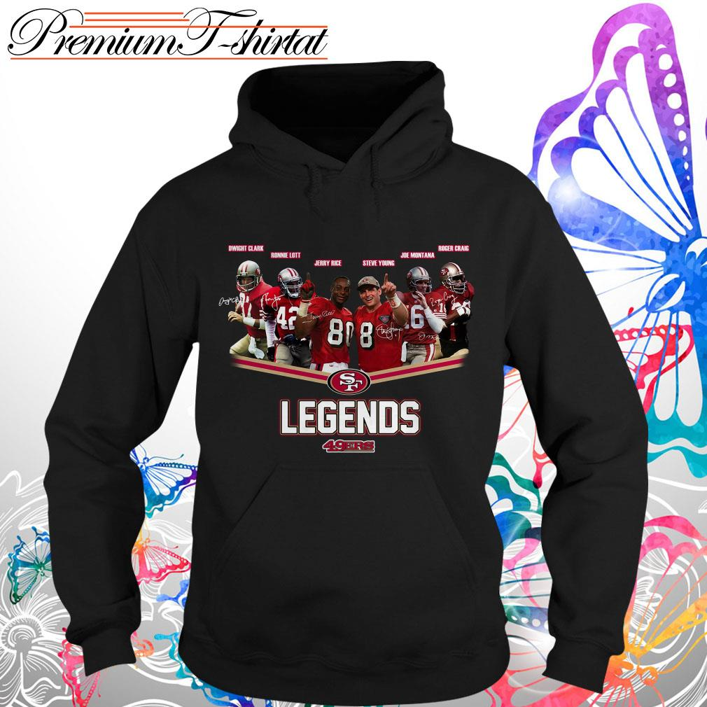 San Francisco 49ers Legends team signatures T-shirt and hoodie