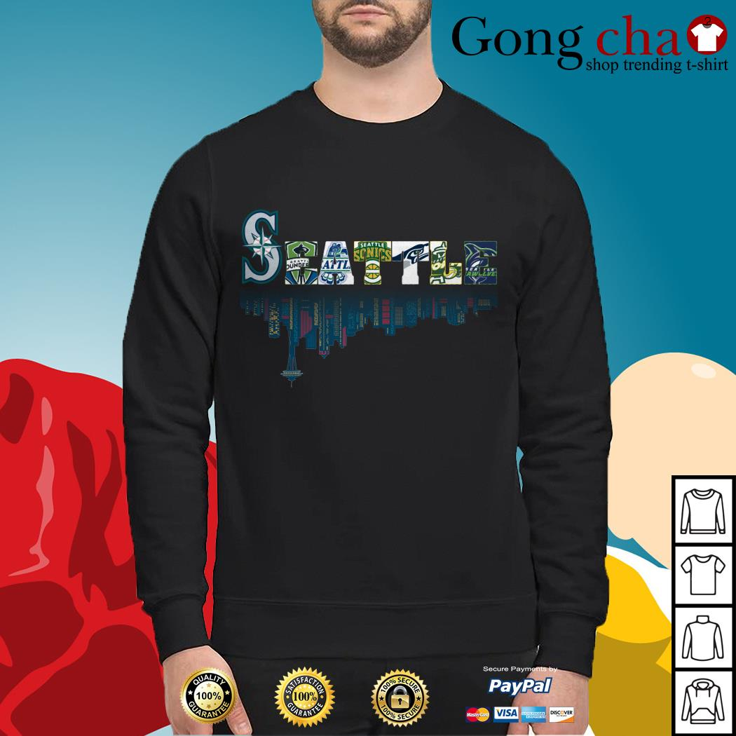 SEATTLE Seattle Mariners Seattle Sounders Seattle Thunderbirds and Seattle Supersonics Sweater