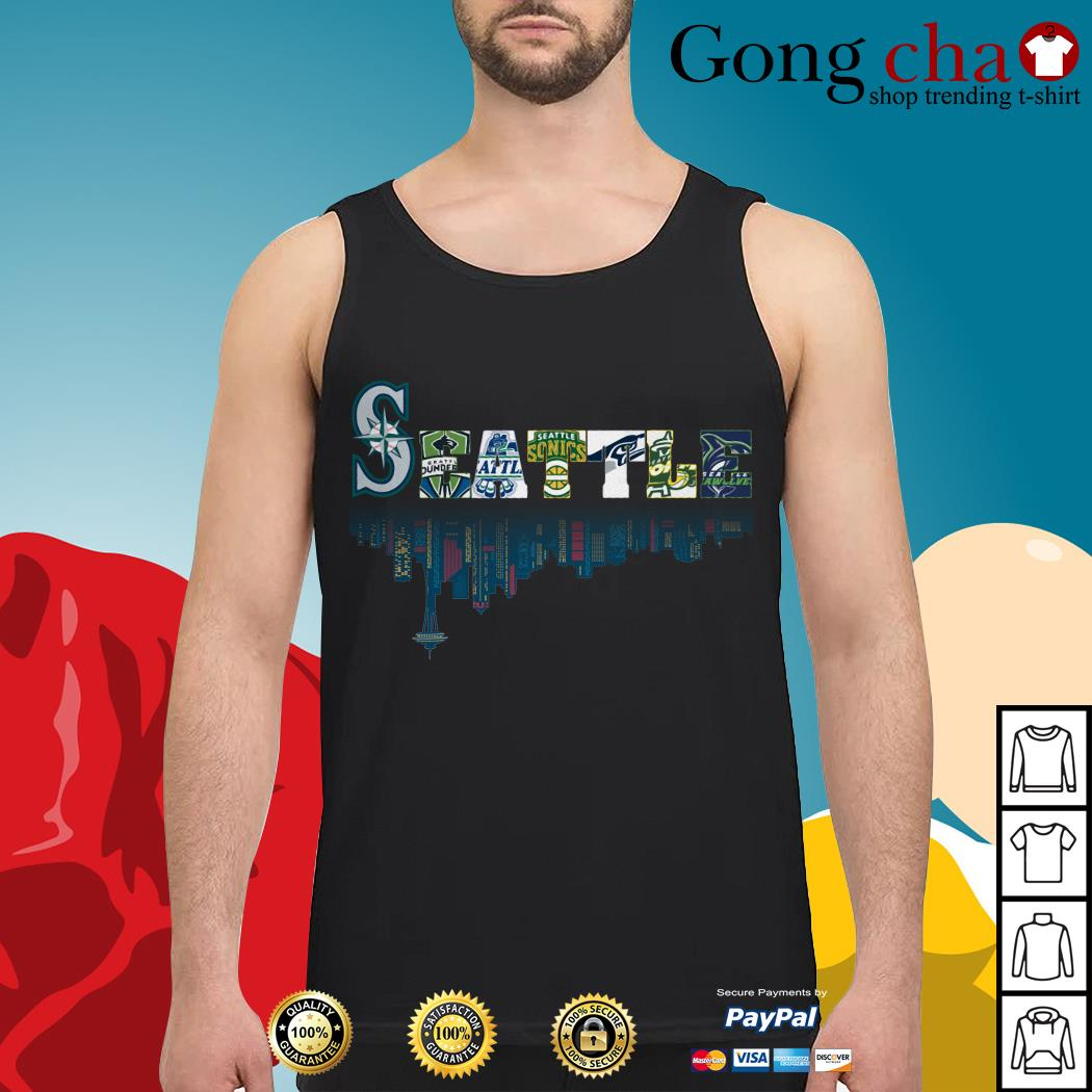 SEATTLE Seattle Mariners Seattle Sounders Seattle Thunderbirds and Seattle Supersonics Tank top