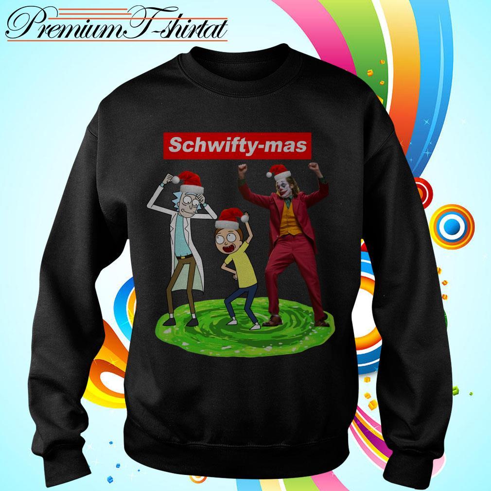 Supreme Schwifty-mas Rick and Morty Joker dance T-shirt and sweater;