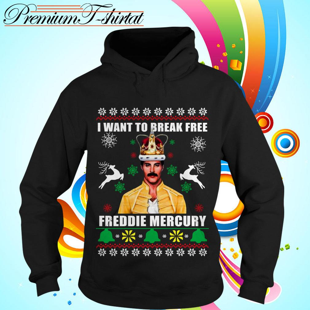 I want to break free Freddie Mercury ugly Christmas shirt