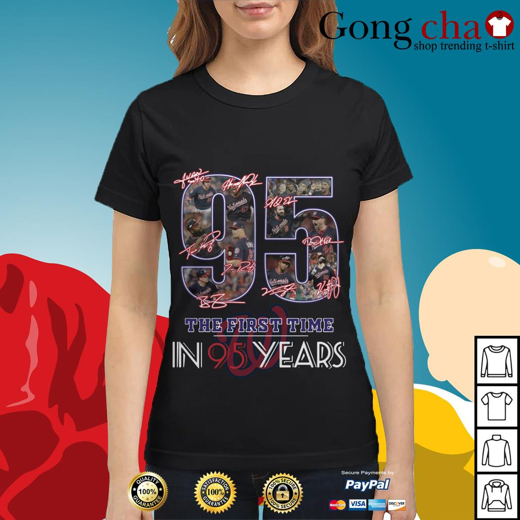 Washington Nationals 95 the first time in 95 years Ladies tee