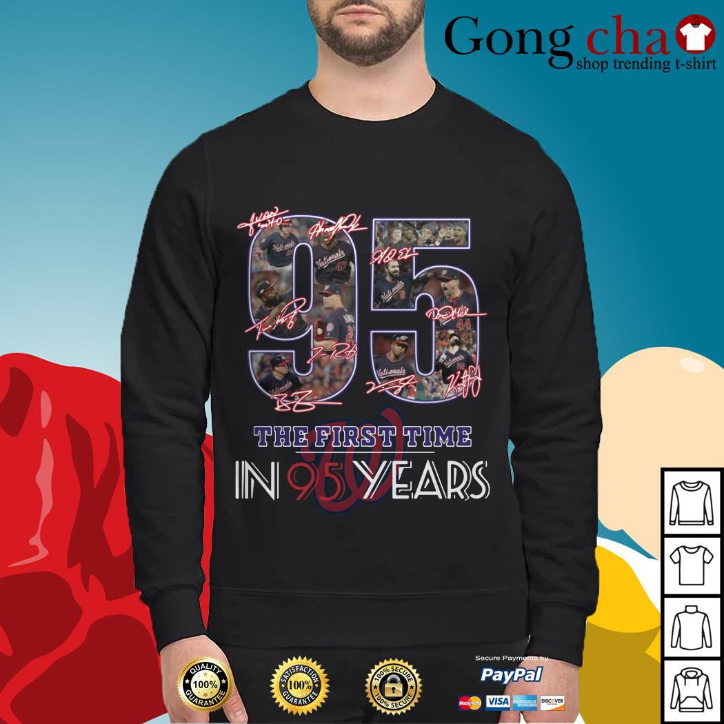 Washington Nationals 95 the first time in 95 years Sweater