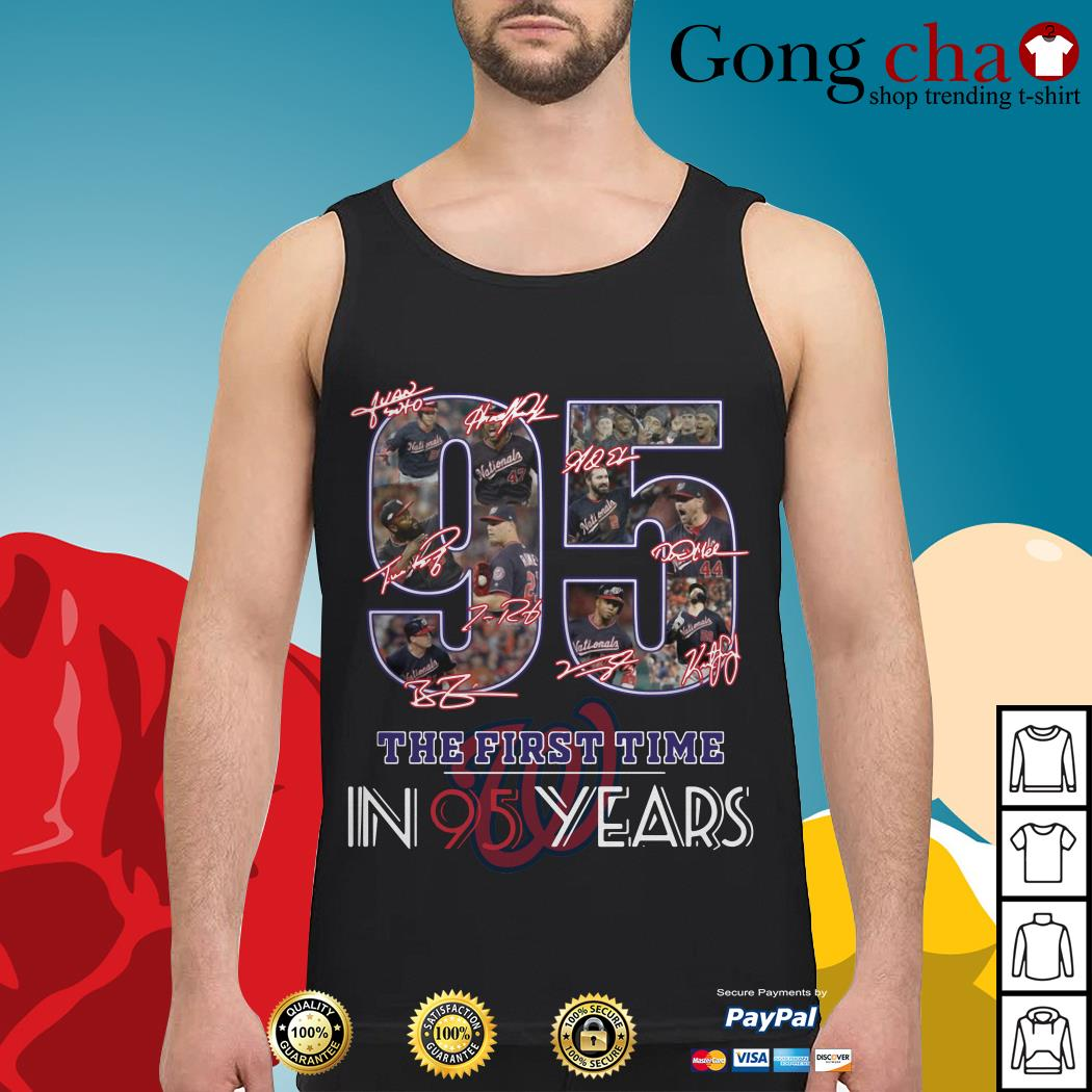 Washington Nationals 95 the first time in 95 years Tank top