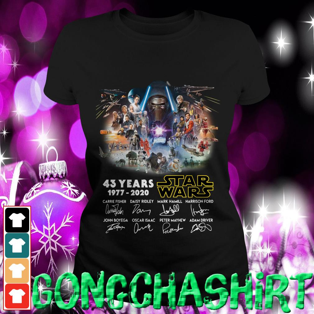 43 years Star Wars 1977-2020 signatures ladies tee