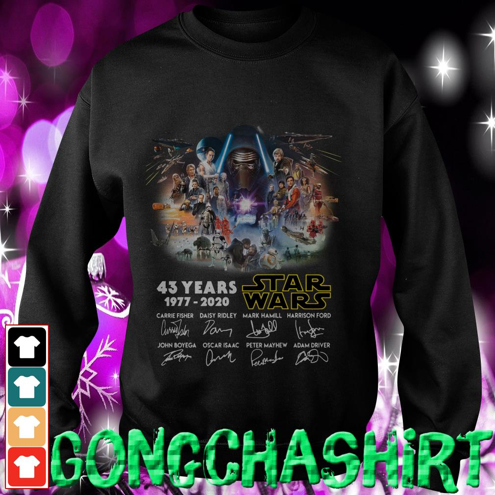 43 years Star Wars 1977-2020 signatures Sweater
