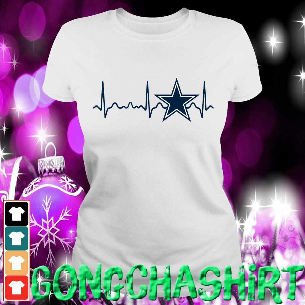 Dallas Cowboys heartbeat Ladies tee