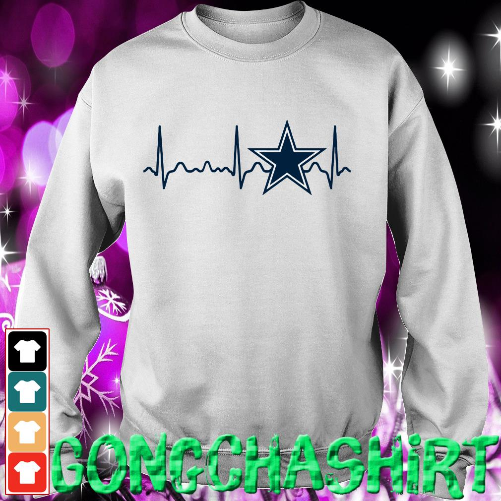 Dallas Cowboys heartbeat Sweater