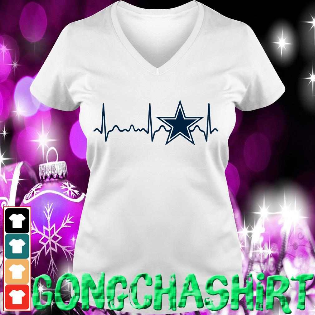 Dallas Cowboys heartbeat V-neck t-shirt