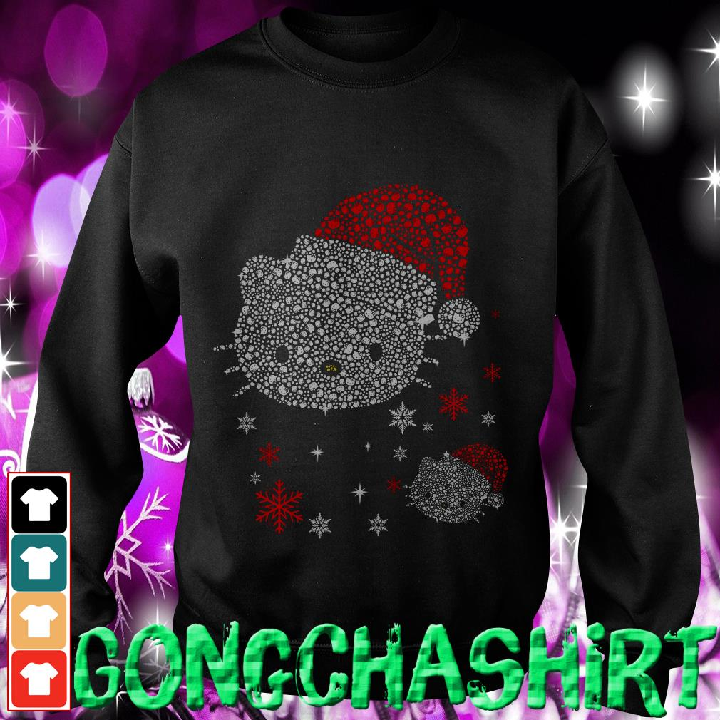 Rhinestone Hello Kitty Christmas Sweater
