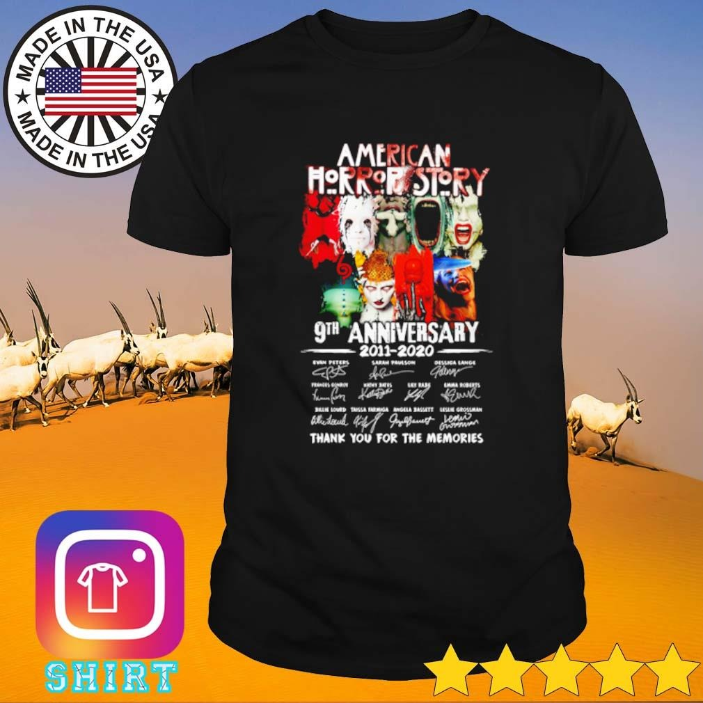 American Horror Story 9th Anniversary 2011-2020 thank you for the memories shirt