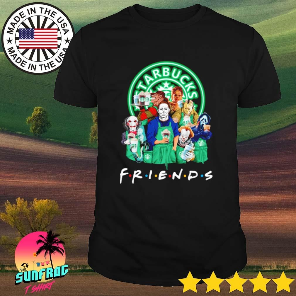 Horror characters movies loves Starbucks Coffee Friends shirt