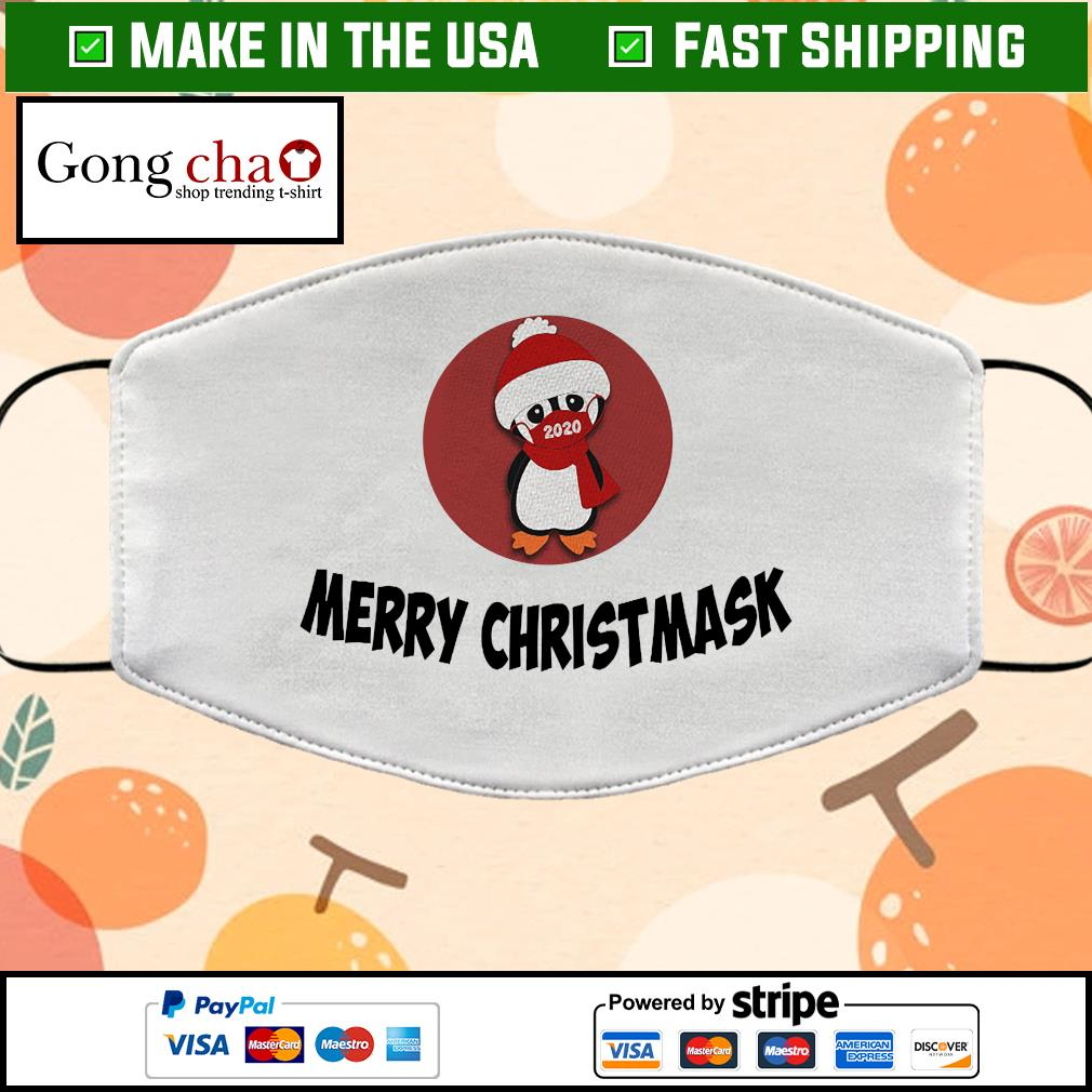 Merry Penguin Christmas Cloth Face Mask Washable