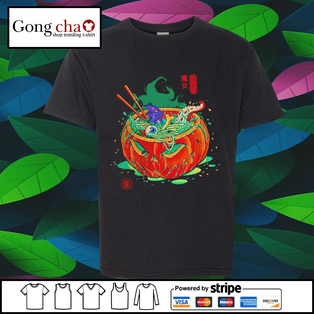 Ramen witch pumpkin Japanese shirt