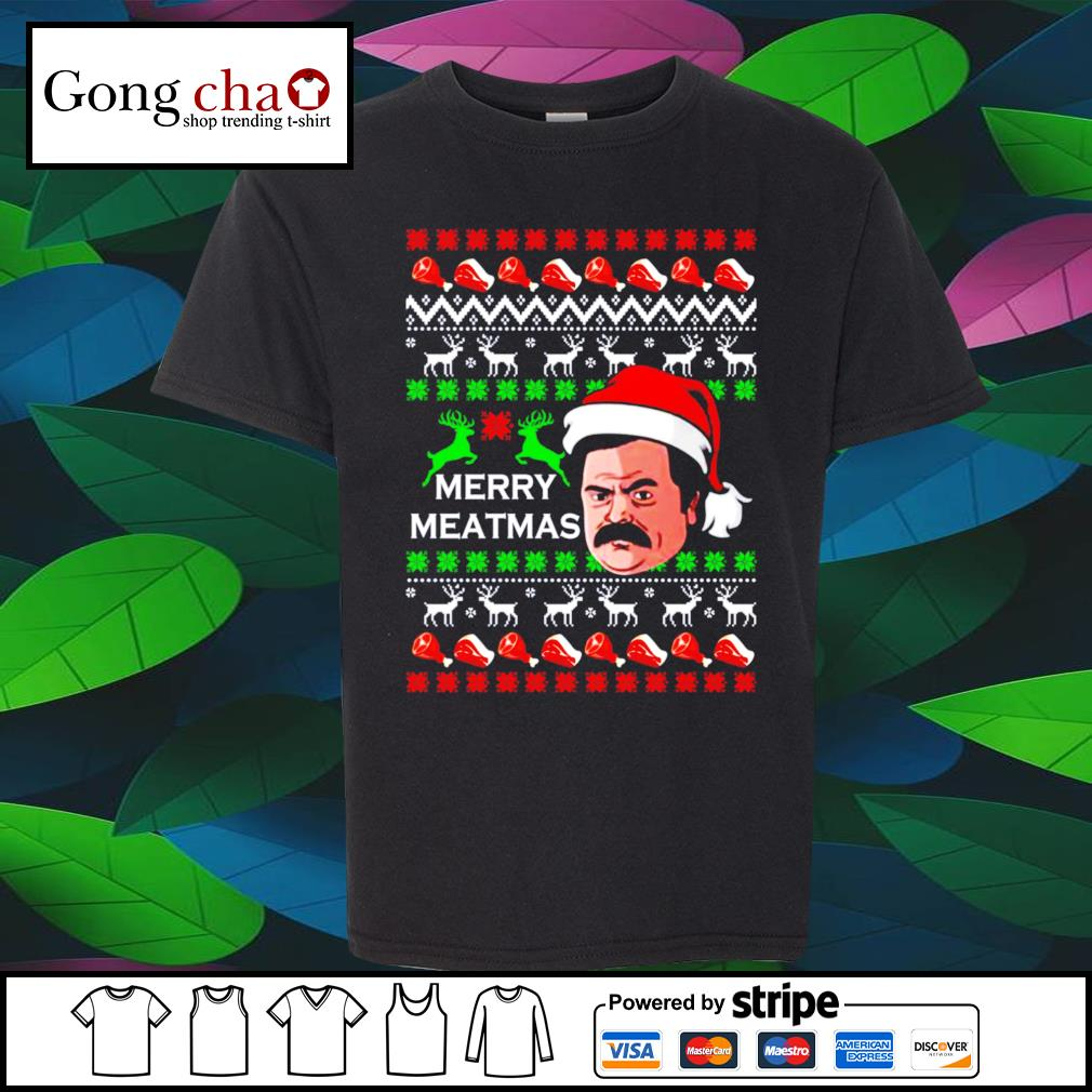 Swanson Merry Meatmas ugly Christmas shirt