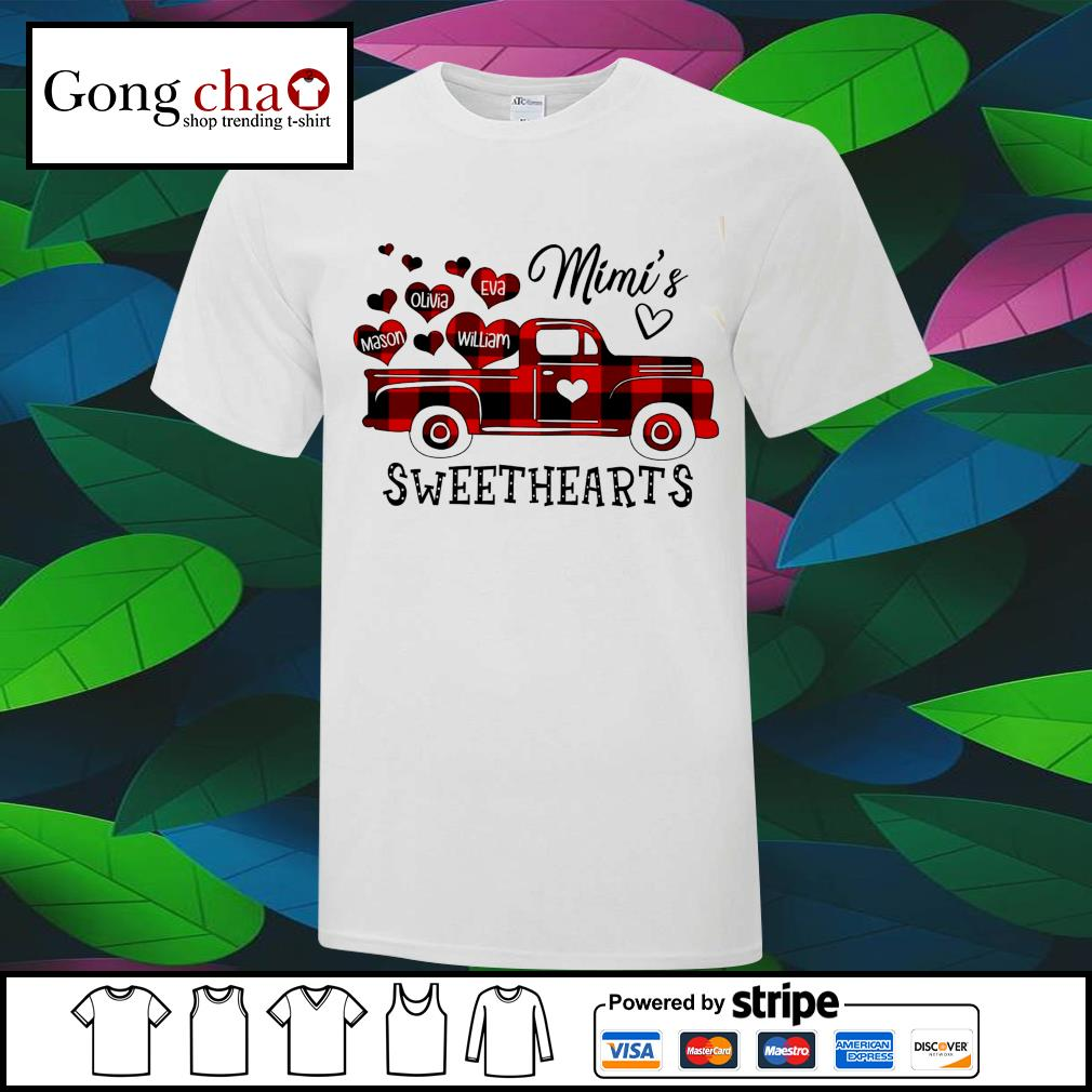 Red Plaid Truck Mimi's sweethearts shirt