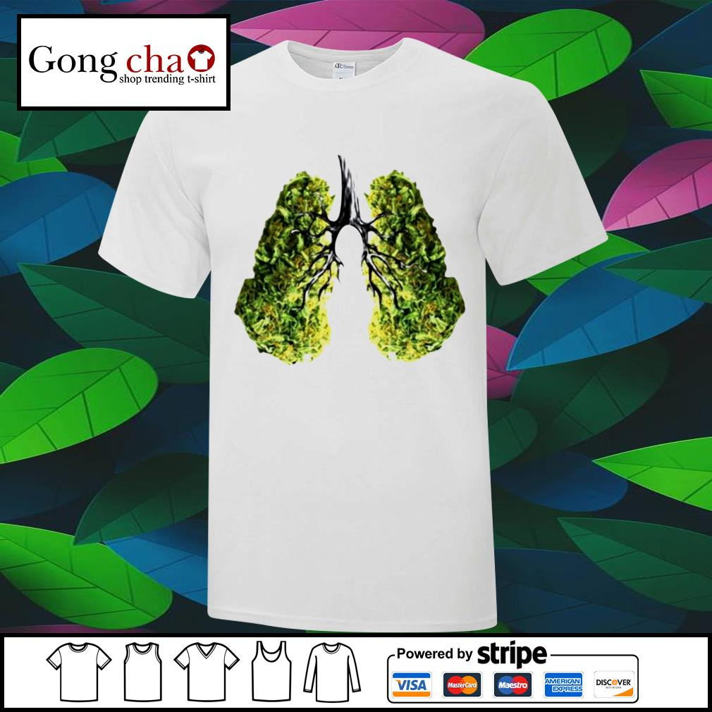 Weed green lungs shirts