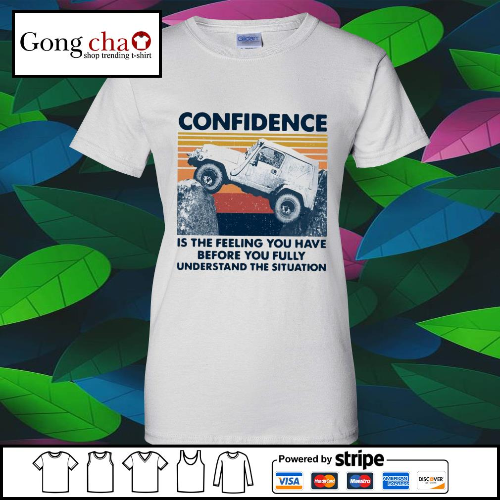 Confidence is the feeling you have before you fully understand the situation vintage s v-neck-t-shirt