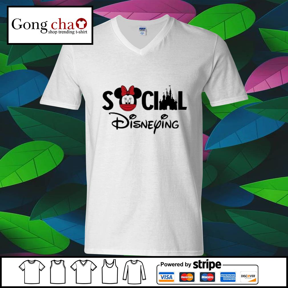 Minnie Mouse face mask social Disneying s ladies-tee