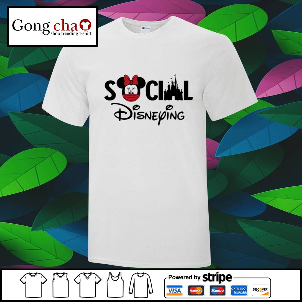 Minnie Mouse face mask social Disneying shirt