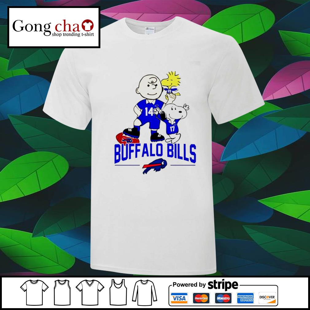 Snoopy and Charlie Brown Woodstock Buffalo Bills shirt