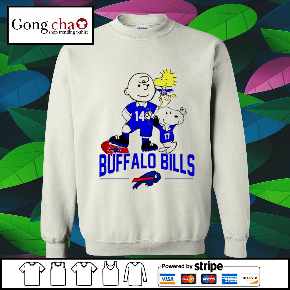 Snoopy and Charlie Brown Woodstock Buffalo Bills s sweater