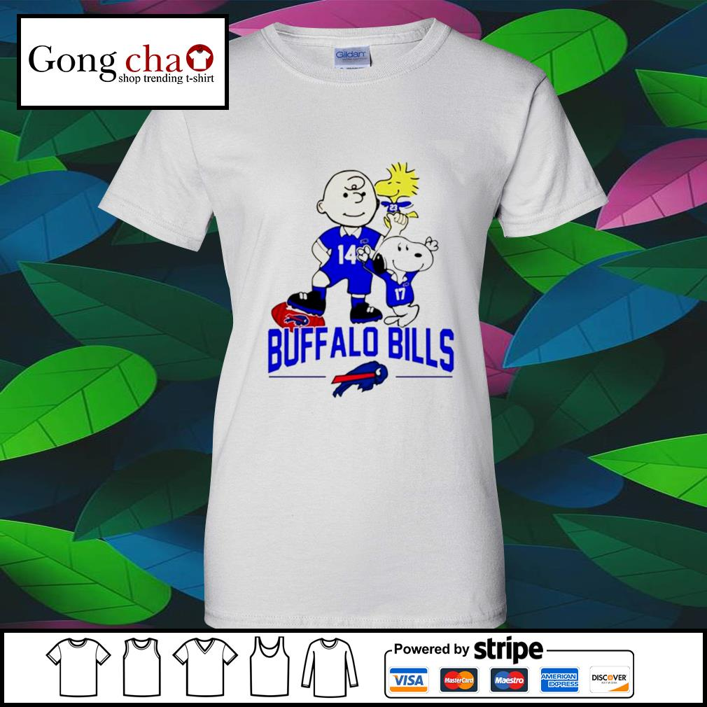 Snoopy and Charlie Brown Woodstock Buffalo Bills s v-neck-t-shirt