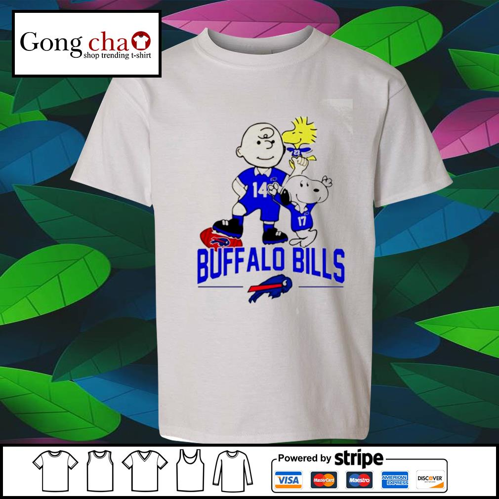 Snoopy and Charlie Brown Woodstock Buffalo Bills s youth-tee
