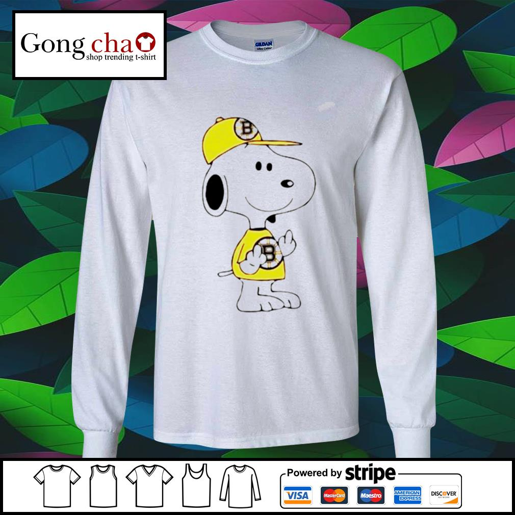 Snoopy Boston Bruins NHL middle fingers fuck you s longsleeve-tee