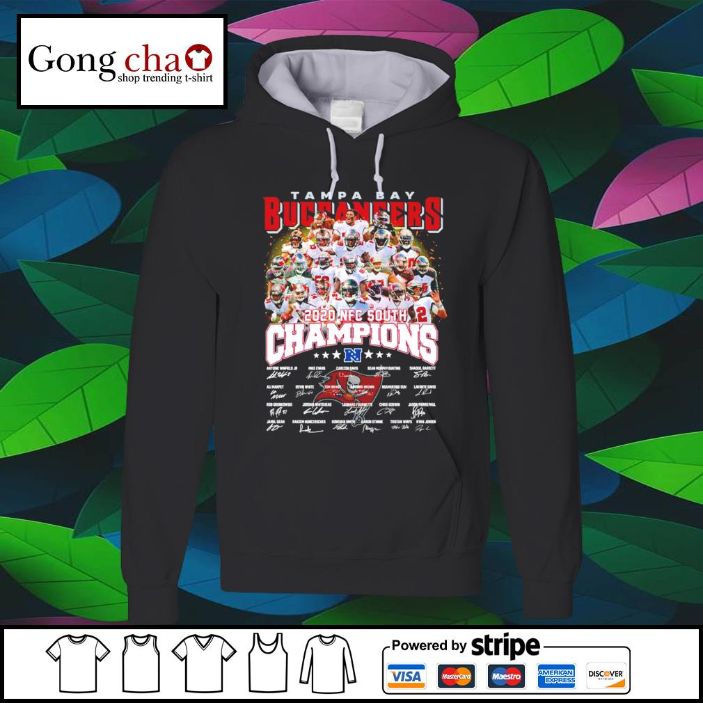 Tampa Bay Buccaneers 2020 NFC South Champions signatures s hoodie