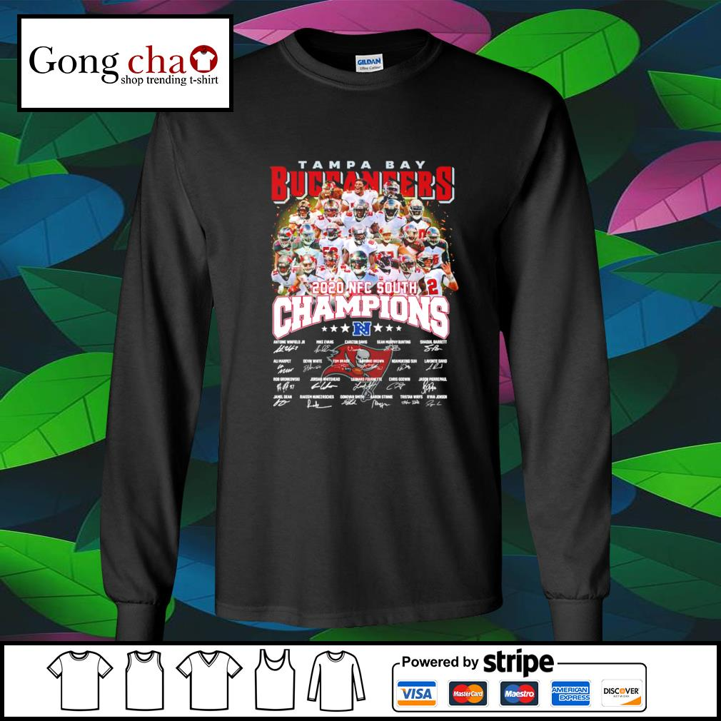 Tampa Bay Buccaneers 2020 NFC South Champions signatures s longsleeve-tee
