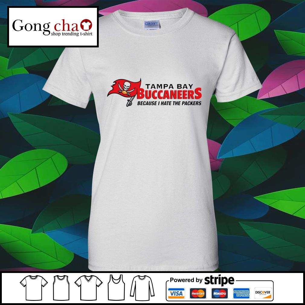 Tampa Bay Buccaneers because I hate the Packers s v-neck-t-shirt