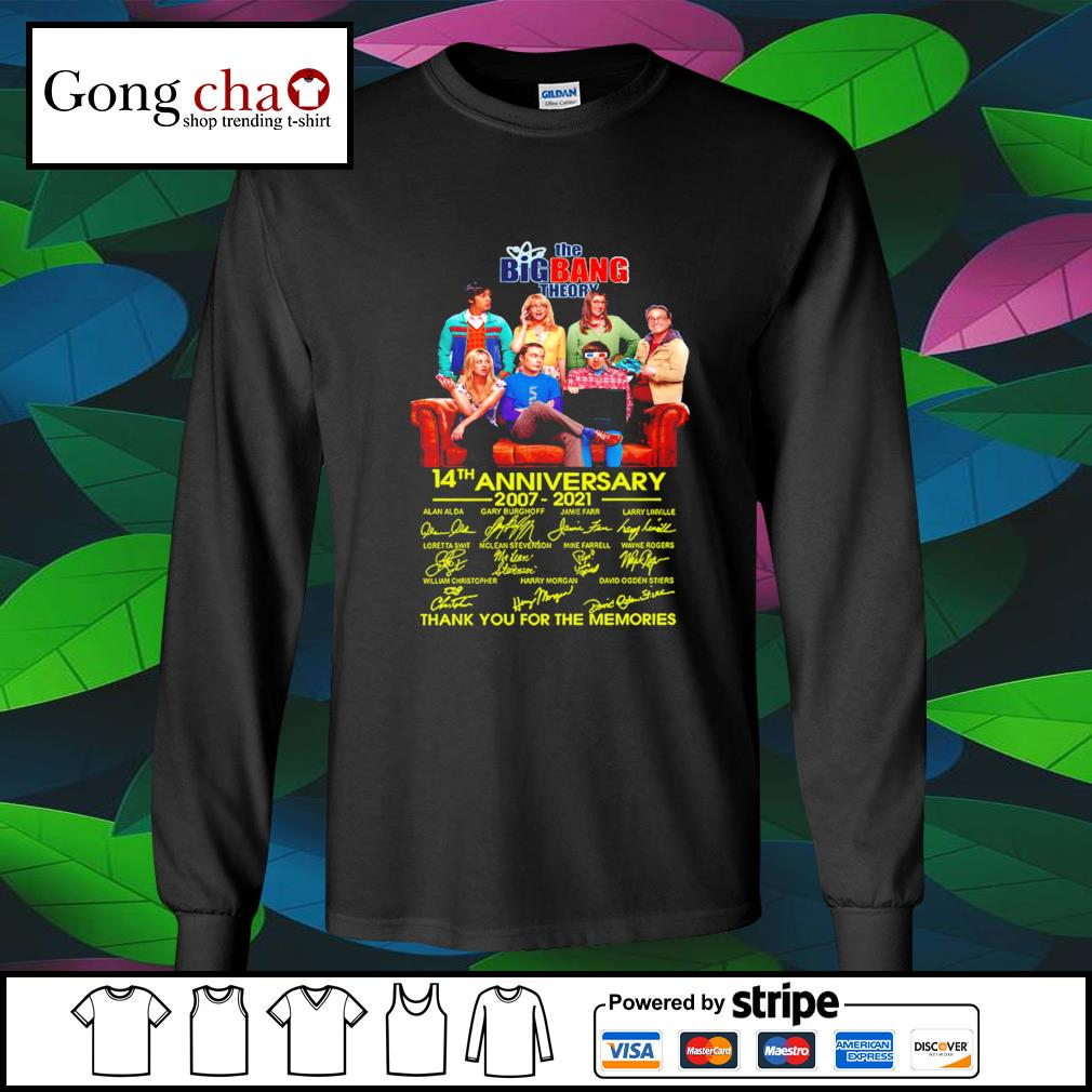 The Big Bang Theory 14th anniversary 2007 2021 thank you for the memories s longsleeve-tee