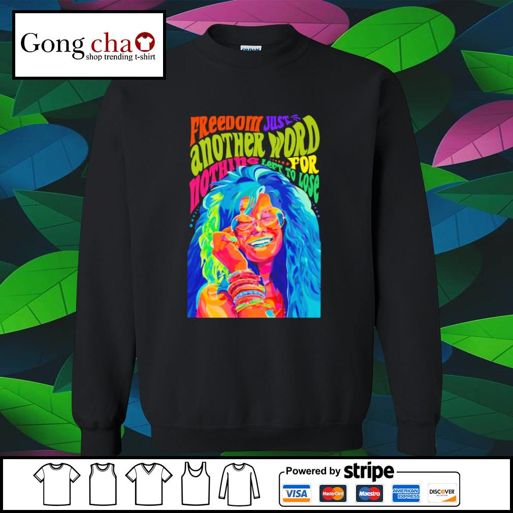 Watercolor freedom just another word for nothing left to lose s sweater